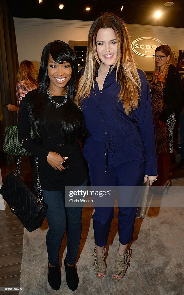 Malika Haqq and reality television personality <a gi-track='captionPersonalityLinkClicked' href=/galleries/search?phrase=Khloe+Kardashian&family=editorial&specificpeople=3955023 ng-click='$event.stopPropagation()'>Khloe Kardashian</a> attend the Scoop NYC event at Scoop NYC on October 22, 2013 in Beverly Hills, California.