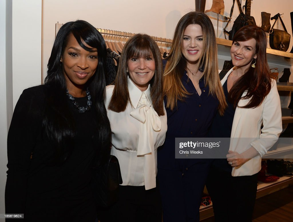 Malika Haqq, Shelli Azoff, reality television personality <a gi-track='captionPersonalityLinkClicked' href=/galleries/search?phrase=Khloe+Kardashian&family=editorial&specificpeople=3955023 ng-click='$event.stopPropagation()'>Khloe Kardashian</a> and actress <a gi-track='captionPersonalityLinkClicked' href=/galleries/search?phrase=Sara+Rue&family=editorial&specificpeople=203287 ng-click='$event.stopPropagation()'>Sara Rue</a> attend the Scoop NYC event at Scoop NYC on October 22, 2013 in Beverly Hills, California.