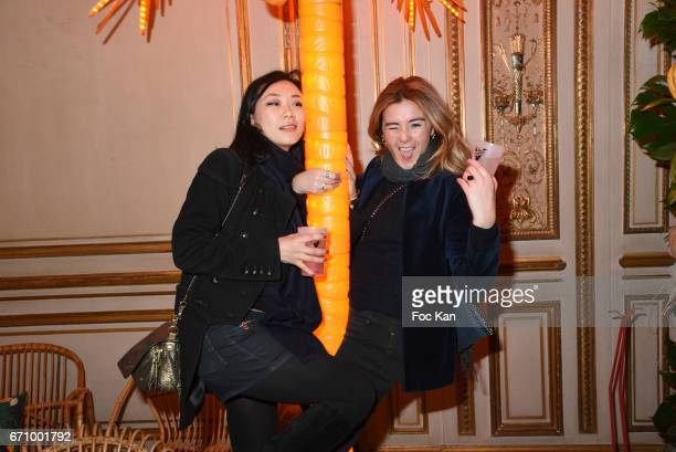 Malika Lambert and actress Anais Aidoud attend 'Tonic Follies' Villa Schweppes Before Cannes Festival Party at Foundation Mona Bismarck on April 20...