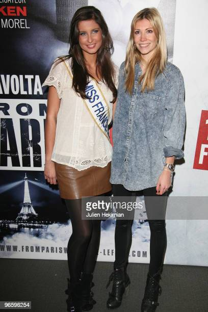 Malika Menard and Alexandra Rosenfeld attend 'From Paris with Love' Paris premiere at Cinema UGC Normandie on February 11 2010 in Paris France