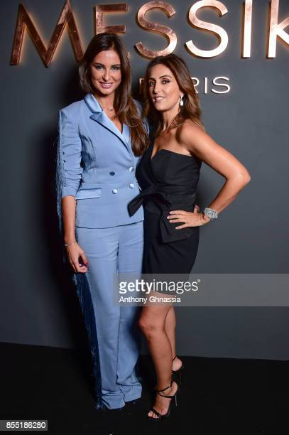 Malika Menard and Valerie Messika attend Messika cocktail as part of the Paris Fashion Week Womenswear Spring/Summer 2018 on September 27 2017 in...