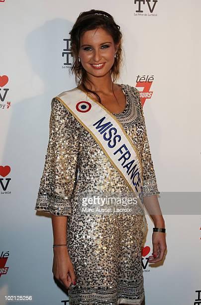 Malika Menard attends the 1st edition of 'La Fete de la Tele' at Le Showcase on June 15 2010 in Paris France