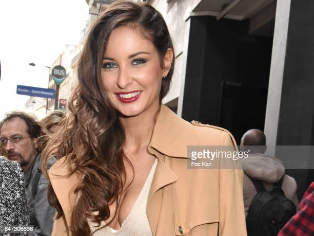 Malika Menard attends the Alexis Mabille show as part of the Paris Fashion Week Womenswear Fall/Winter 2017/2018 on March 2 2017 in Paris France