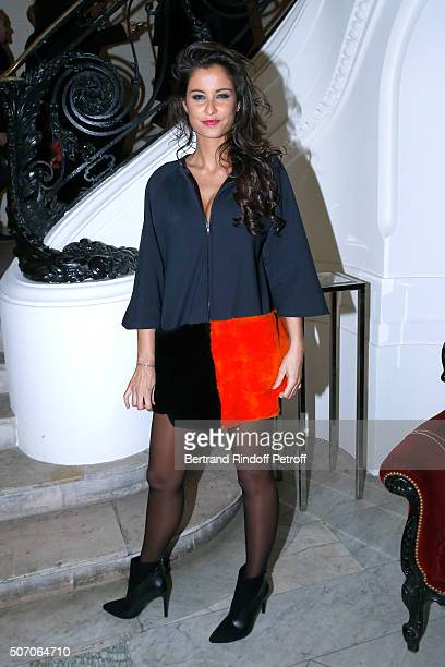 Malika Menard attends the Jean Paul Gaultier Spring Summer 2016 show as part of Paris Fashion Week on January 27 2016 in Paris France