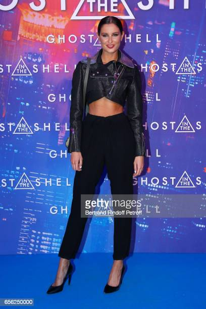 Malika Menard attends the Paris Premiere of the Paramount Pictures release 'Ghost in the Shell' Held at Le Grand Rex on March 21 2017 in Paris France