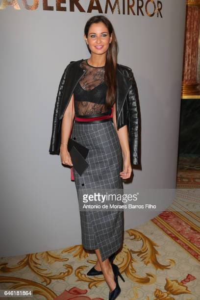 Malika Menard attends the Paule Ka show as part of the Paris Fashion Week Womenswear Fall/Winter 2017/2018 on February 28 2017 in Paris France