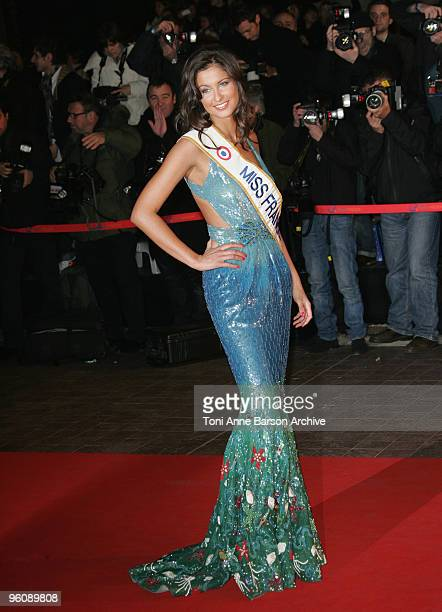 Malika Menard Miss France 2010 arrives at NRJ Music Awards at the Palais des Festivals on January 23 2010 in Cannes France