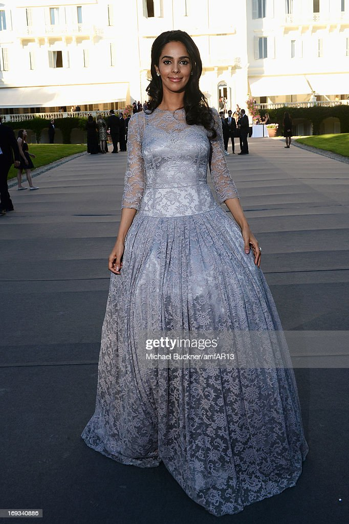 Malika Sherawat attends amfAR's 20th Annual Cinema Against AIDS during The 66th Annual Cannes Film Festival at Hotel du Cap-Eden-Roc on May 23, 2013 in Cap d'Antibes, France.