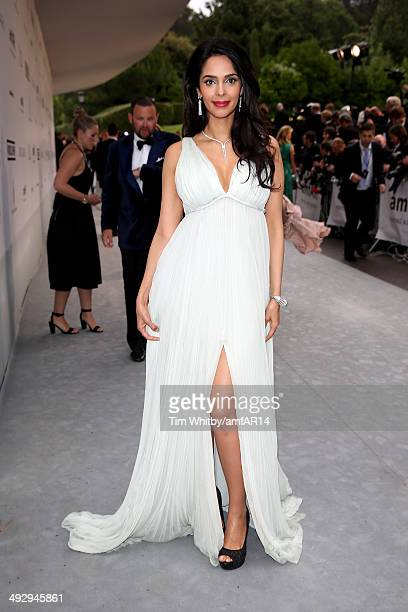 Malika Sherawat attends amfAR's 21st Cinema Against AIDS Gala Presented By WORLDVIEW BOLD FILMS And BVLGARI at Hotel du CapEdenRoc on May 22 2014 in...