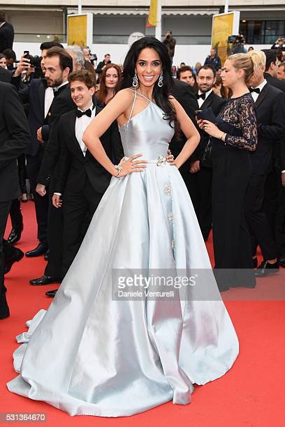 Malika Sherawat attends 'The BFG ' premiere during the 69th annual Cannes Film Festival at the Palais des Festivals on May 14 2016 in Cannes France
