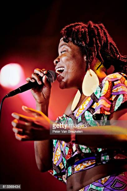 Malika Tirolien of the band Bokanté Performs at North Sea Jazz Festival on July 8th 2017 in Rotterdam The Netherlands