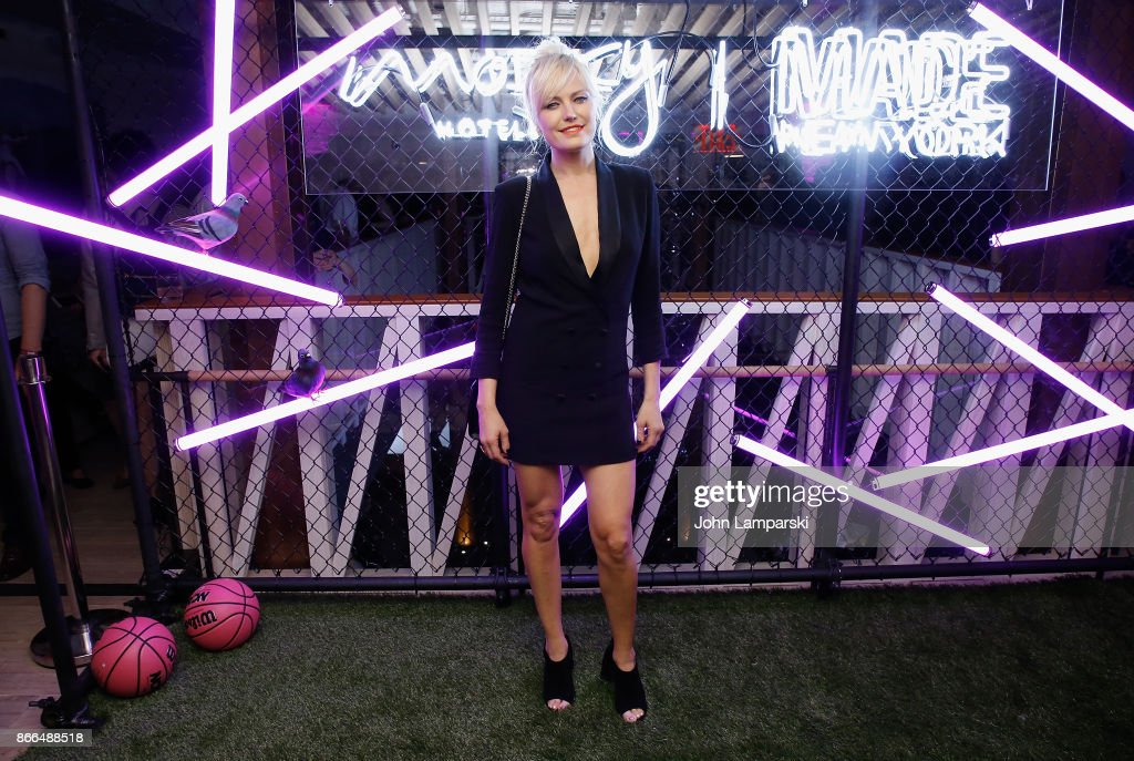 Malin Ackerman attends Moxy Times Square 'Coming Out' Party at Moxy Times Square on October 25, 2017 in New York City.