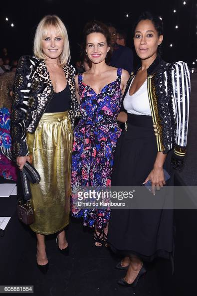 Malin Ackerman Carla Gugino and Tracee Ellis Ross attends the Marc Jacobs Spring 2017 fashion show front row during New York Fashion Week at the...