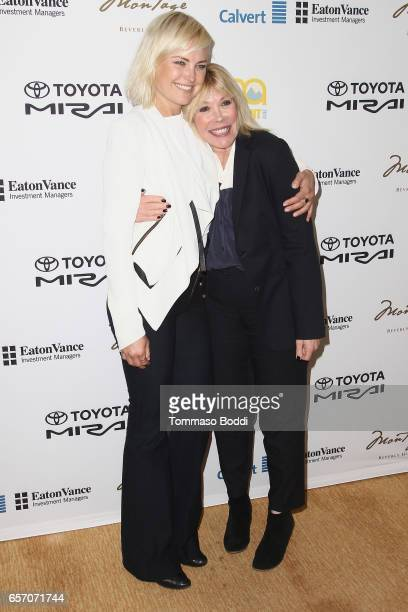 Malin Akerman and Debbie Levin attend the EMA Impact Summit held at the Montage Beverly Hills on March 23 2017 in Beverly Hills California
