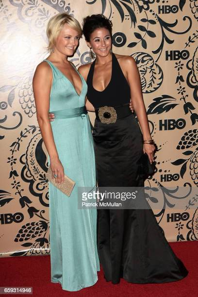 Malin Akerman and Emmanuelle Chriqui attend HBO EMMY After Party at Pacific Design Center on September 20 2009 in West Hollywood California