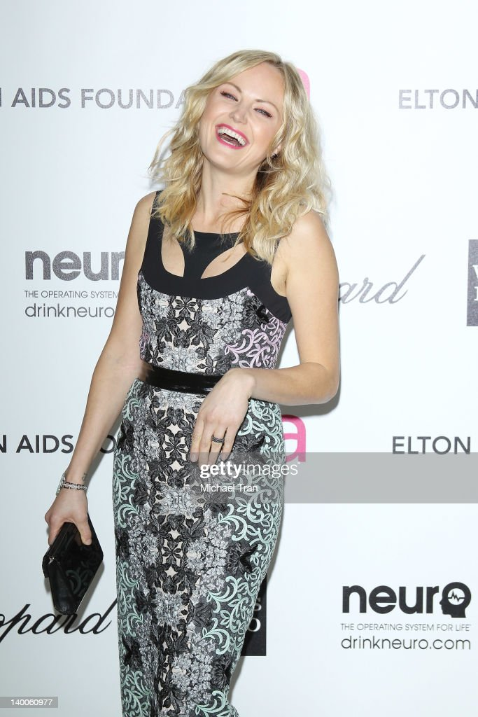 Malin Akerman arrives at the 20th Annual Elton John AIDS Foundation Academy Awards viewing party held across the street from the Pacific Design Center on February 26, 2012 in West Hollywood, California.