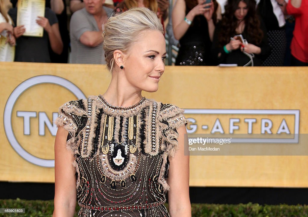 Malin Akerman arrives at the 20th Annual Screen Actors Guild Awards at the Shrine Auditorium on January 18, 2014 in Los Angeles, California.