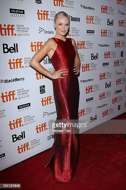 Malin Akerman arrives at 'The Bang Band Club' premiere during the 2010 Toronto International Film Festival held at Roy Thompson Hall on September 15...