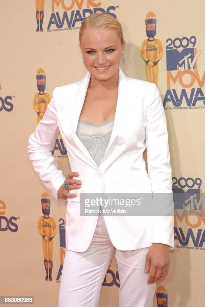 Malin Akerman attends 2009 MTV Movie Awards Arrivals at Gibson Amphitheatre on May 31 2009 in Universal City California