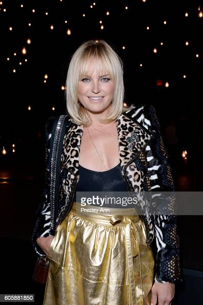 Malin Akerman attends the Marc Jacobs SS17 fashion show front row during New York Fashion Week at the Hammerstein Ballroom on September 15 2016 in...
