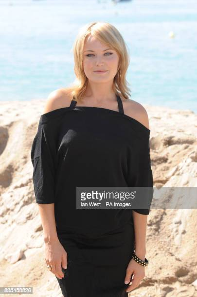 Malin Akerman during a photocall for the film The Bang Bang Club on the Gray D'Albion beach in Cannes France as part of the 62nd annual Cannes Film...