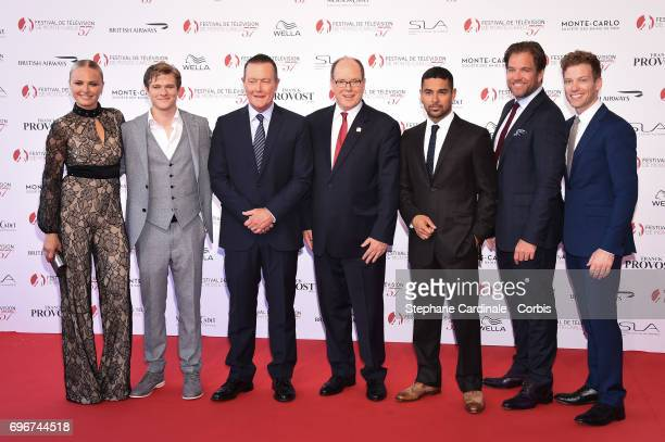 Malin Akerman Lucas Till Robert Patrick Prince Albert II of Monaco Wilmer Valderrama Michael Weatherly and Barrett Foa attend the 57th Monte Carlo TV...