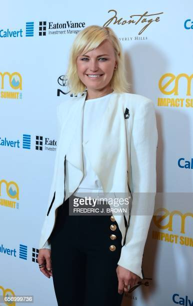 Malin Akerman poses at the Environmental Media Association Impact Summit in Beverly Hills California on March 23 2017 / AFP PHOTO / Frederic J Brown