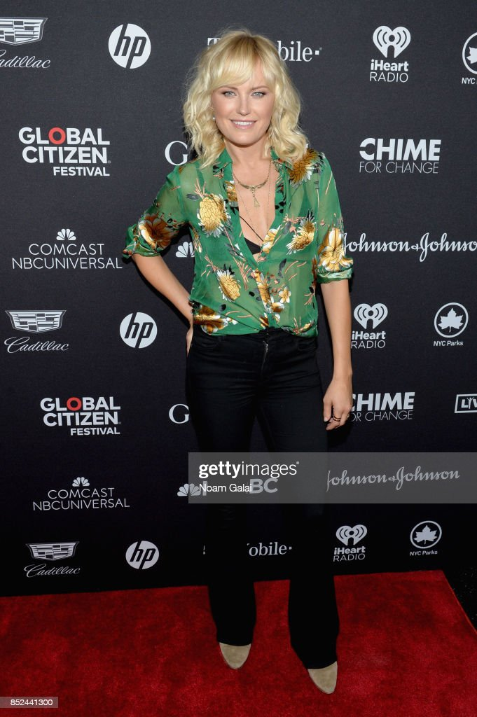 Malin Akerman poses in the VIP Lounge during the 2017 Global Citizen Festival in Central Park on September 23, 2017 in New York City.