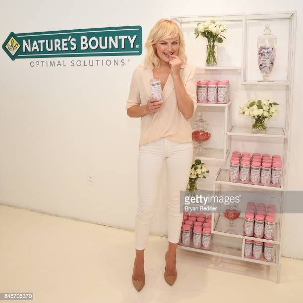 Malin Akerman talks beauty secrets at the Nature's Bounty Hair Skin Nails Celebrity Lounge during Fashion Week on September 11 2017 in New York City