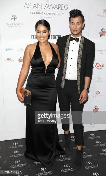 Malin Andersson and Junaid Ahmed attend The Asian Awards at Hilton Park Lane on May 5 2017 in London England