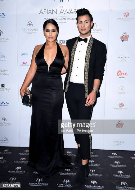 Malin Andersson and Junaid Ahmed attending the 7th annual Asian Awards at the Hilton Hotel Park Lane London