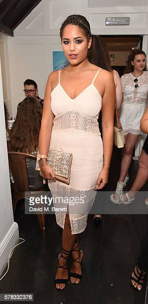 Malin Andersson attends as beauty brand Spectrum Collections launch their AW16 Bomb Shell in Soho on July 21 2016 in London England