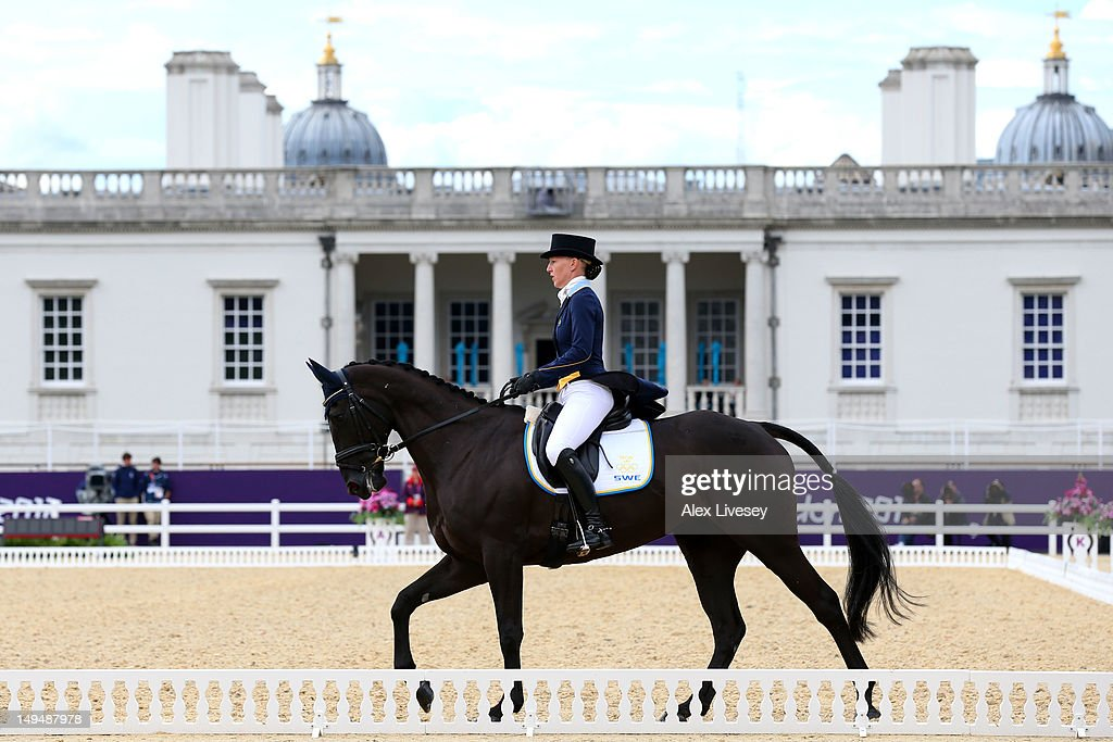 Malin Petersen of Sweden riding Sofarsogood competes in the Dressage Equestrian event on Day 2 of the London 2012 Olympic Games at Greenwich Park on July 29, 2012 in London, England.