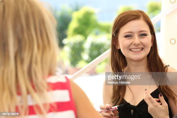 Malin Steffen poses during the celebration of 2500 episodes of 'Rote Rosen' on June 18 2017 in Lueneburg Germany