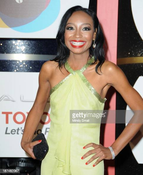 Malina Moye arrives at the Soul Train Awards 2013 at the Orleans Hotel Casino on November 8 2013 in Las Vegas Nevada