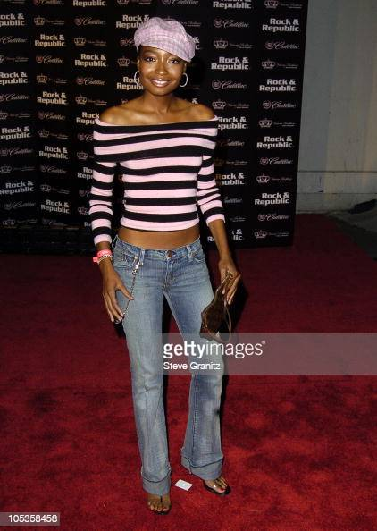 Malina Moye during MercedesBenz Spring 2005 LA Fashion Week at Smashbox Studios Cadillac Presents Rock Republic Spring 2005 Fashion Show Arrivals at...