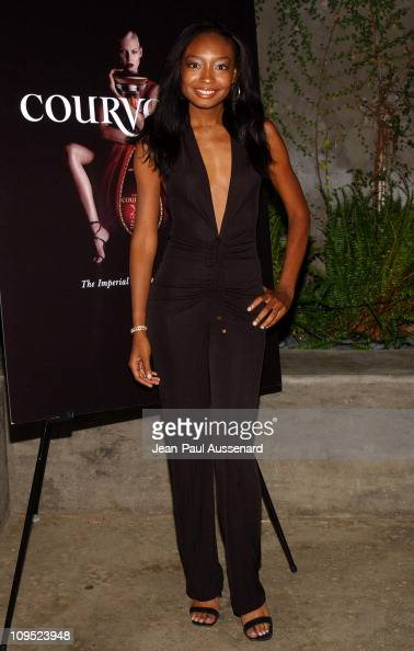Malina Moye during Russell Simmons 'Work HardPlay Harder' Lounge Sponsored by Courvoisier and W Hotel Arrivals at Poolside at W Hotel in Westwood...