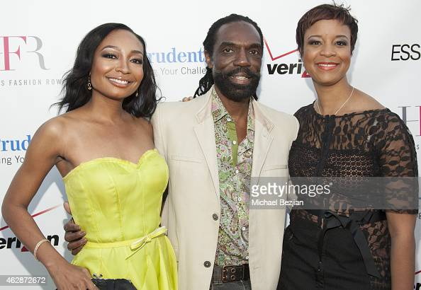 Malina Moye Kevan Hall and Brandice Henderson attend Harlem's Fashion Row Style Beat In LA on February 6 2015 in Los Angeles California