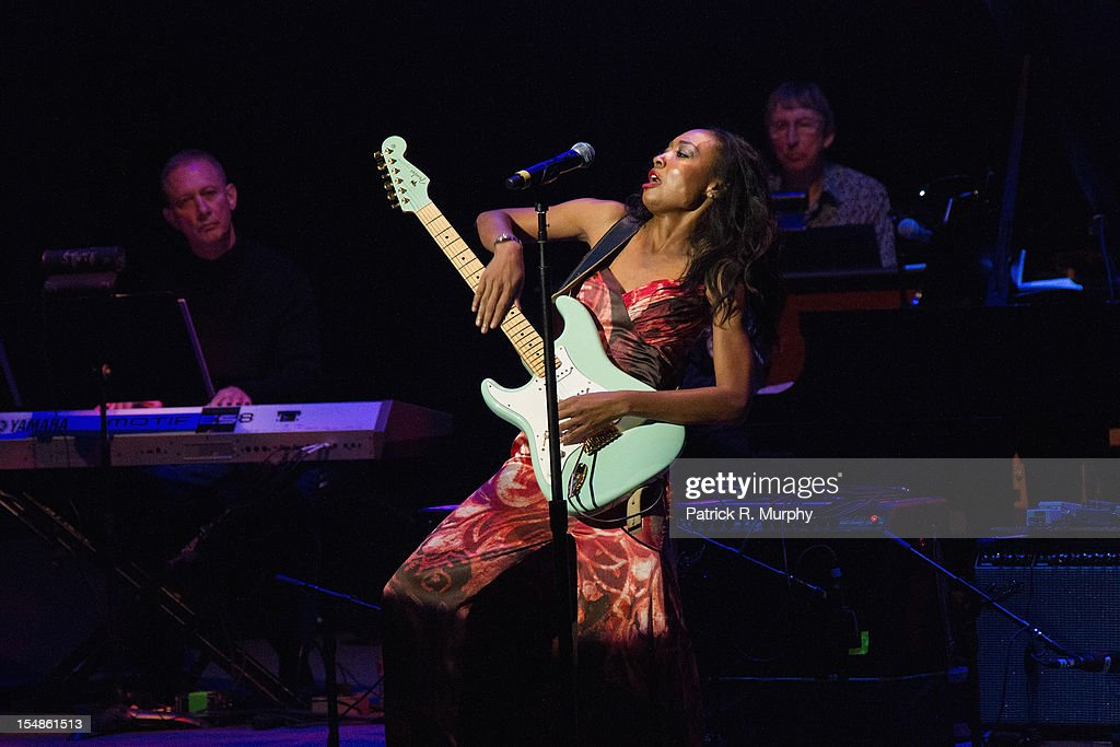 Malina Moye performs during the Chuck Berry Tribute Concert at the State Theatre on October 27, 2012 in Cleveland, Ohio.