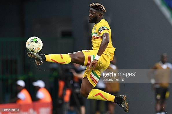 TOPSHOT Mali's defender Molla Wague controls the ball during the 2017 Africa Cup of Nations group D football match between Ghana and Mali in...