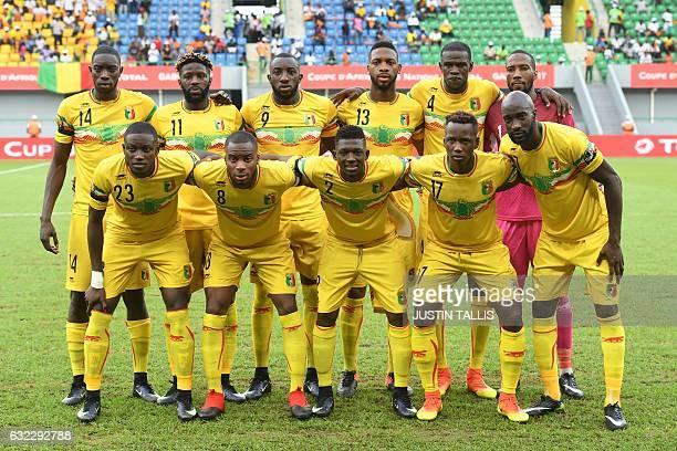 Mali's squad midfielder Sambou Yatabare midfielder Bakary Sako forward Moussa Marega defender Molla Wague defender Salif Coulibaly goalkeeper Oumar...