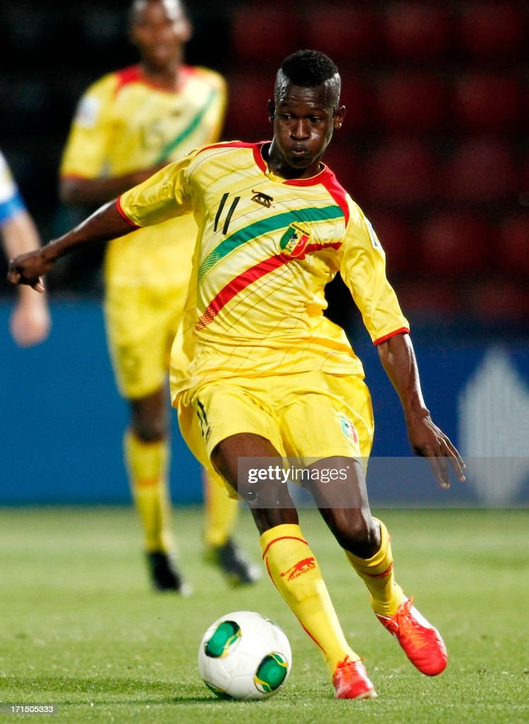 Mali's Tiecoro Keita controls the ball during the group stage football match between Mali and Greece at the FIFA Under 20 World Cup at the Kamil Ocak Stadium in Gaziantep on June 25, 2013.