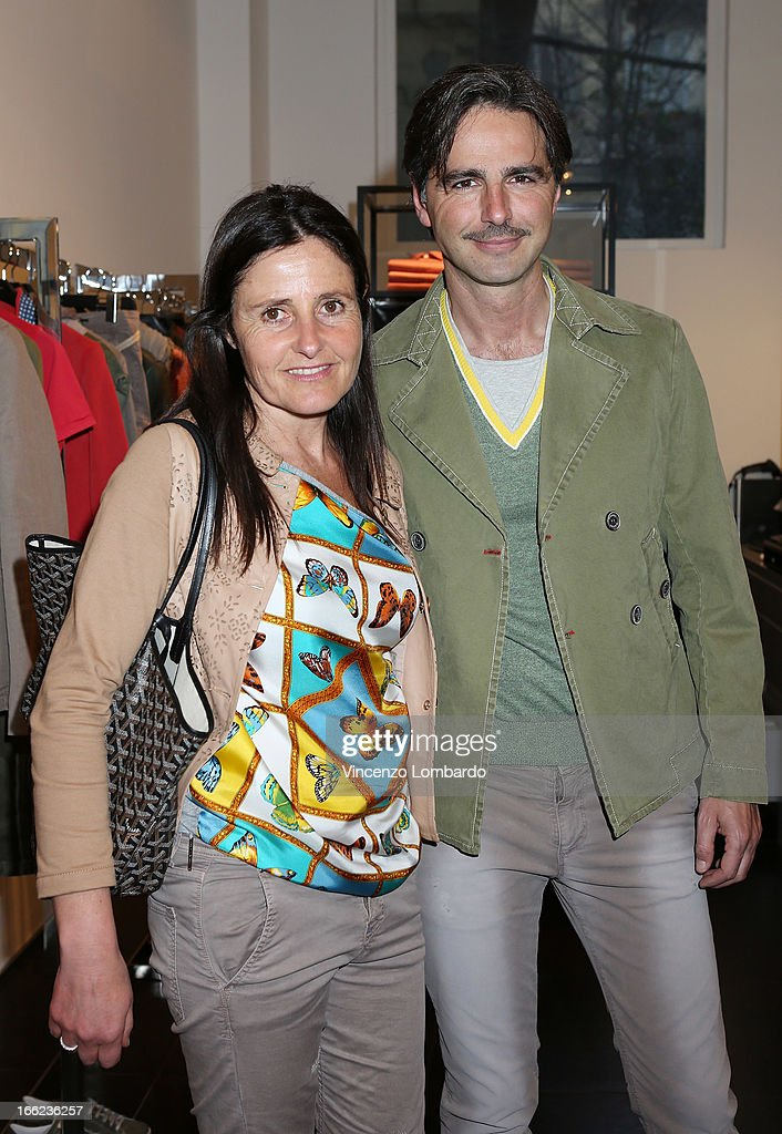 Malita Rebecchi and Beppe Convertini attend Oggetti Smarriti di Gumdesign - 2013 Milan Design Week on April 10, 2013 in Milan, Italy.