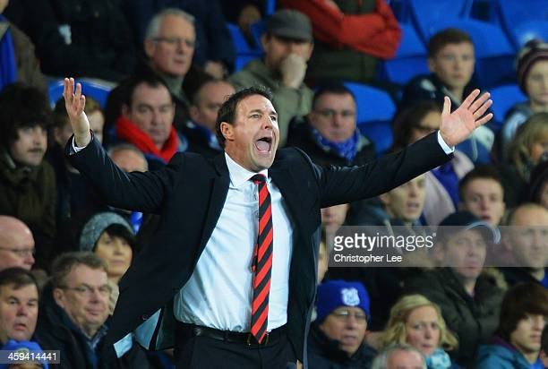 Malky Mackay manager of Cardiff City shows his frustration during the Barclays Premier League match between Cardiff City and Southampton at Cardiff...