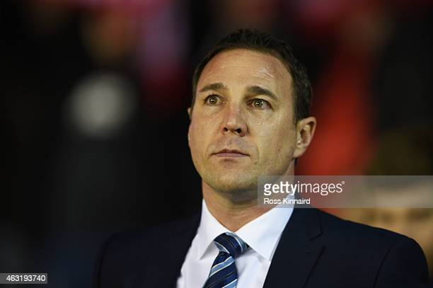 Malky MacKay the manager of Wigan Athletic looks on during the Sky Bet Championship match between Nottingham Forest and Wigan Athletic at the City...
