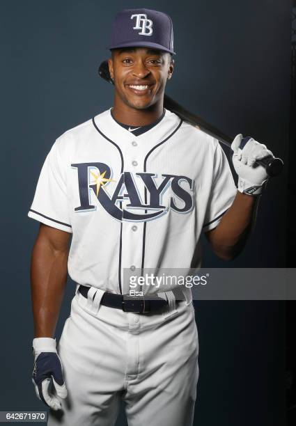 Mallex Smith of hte Tampa Bay Rays poses for a portrait during the Tampa Bay Rays photo day on February 18 2017 at Charlotte Sports Park in Port...