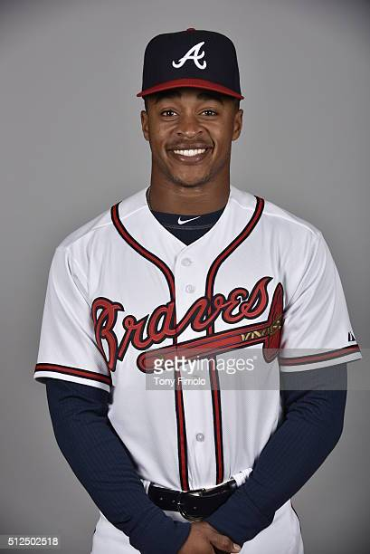 Mallex Smith of the Atlanta Braves poses during Photo Day on Friday February 26 2016 at Champion Stadium in Lake Buena Vista Florida