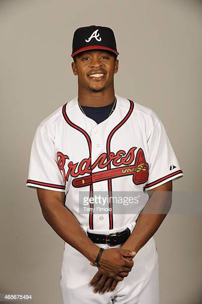 Mallex Smith of the Atlanta Braves poses during Photo Day on Monday March 2 2015 at Champion Stadium in Lake Buena Vista Florida