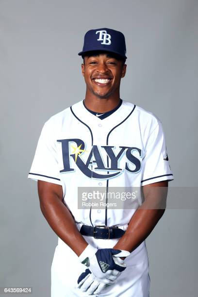 Mallex Smith of the Tampa Bay Rays poses during Photo Day on Saturday February 18 2017 at Charlotte Sports Park in Port Charlotte Florida