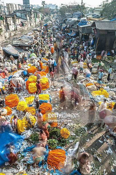 Mallik Ghat Flower Market.